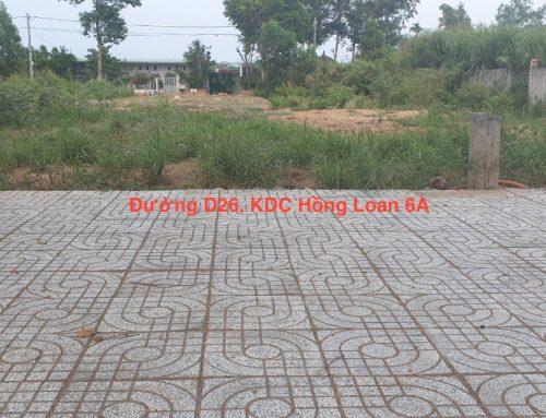 Nền đường D26 KDC Hồng Loan 6A – Sổ Hồng, Lộ giới 20m